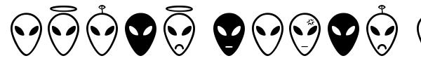 Шрифт Alien Faces ST