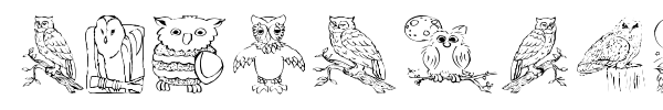 Шрифт AEZ Owls for Traci