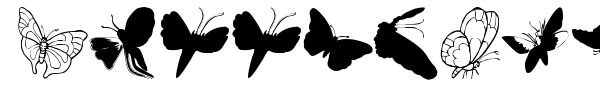 Шрифт ButterFly