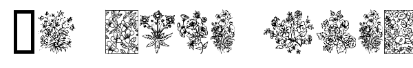 In your garden font preview