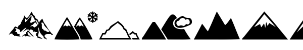 Mountain font preview