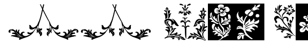 Шрифт YY Old English Dingbats