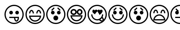 Emoticons font preview
