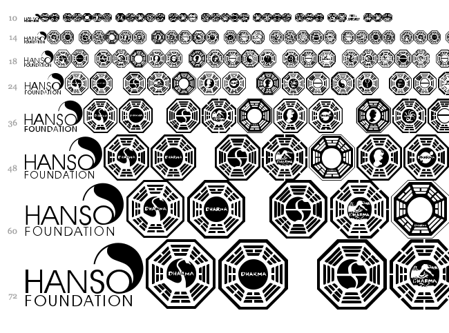 Dharma Initiative Logos font waterfall