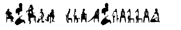 Шрифт Woman Silhouettes