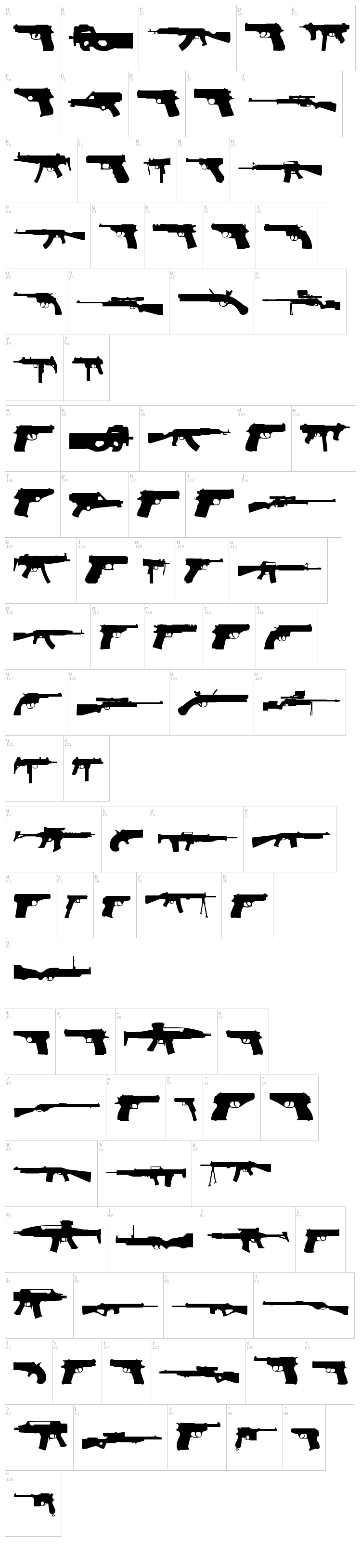 2nd Amendment font map