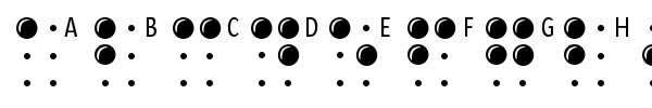 Шрифт Braille Latin