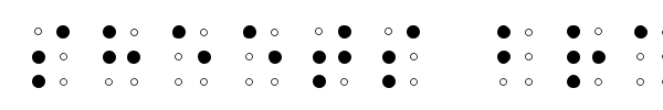 Шрифт Sheets Braille