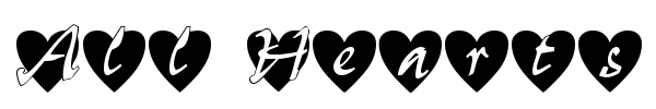 All Hearts font preview