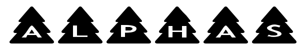 Шрифт AlphaShapes Xmas Trees